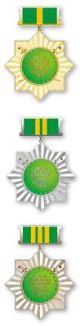 Медаль «За безупречную службу перед Отечеством» / «Watan onundaki birkemsiz harby gullugy ucin» (Туркменистан)
